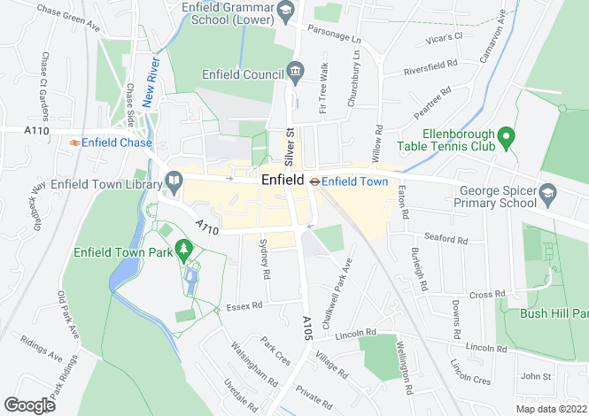 Map for London Road, Enfield, EN2