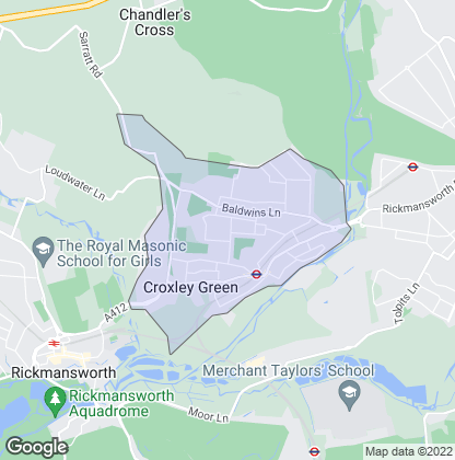 Map of property in Croxley Green
