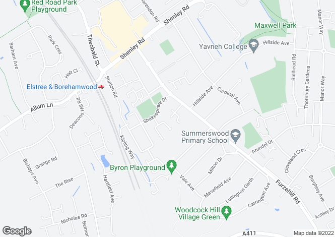 Map for Two Bedroom Flat Borehamwood