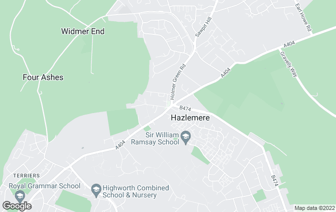 Map for Wye Residential, Hazlemere