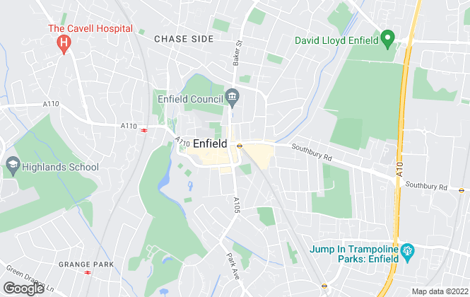 Map for Dayfields, Enfield Town