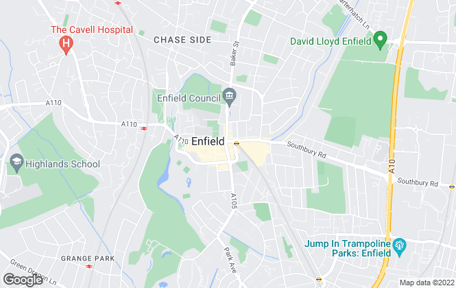 Map for Foxtons, Enfield