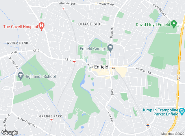 Map for Ellis and Co, Enfield