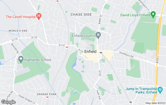 Map for Equity Estate Agents, Enfield Town