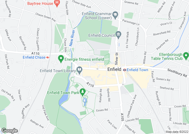 Map for Church Street, Enfield