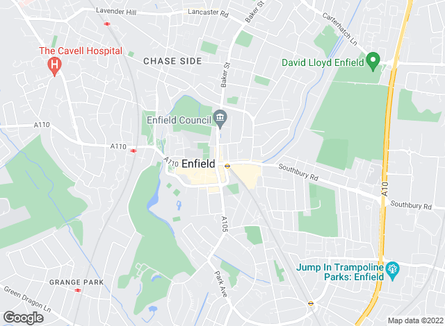Map for Martin & Co, Enfield - Lettings & Sales