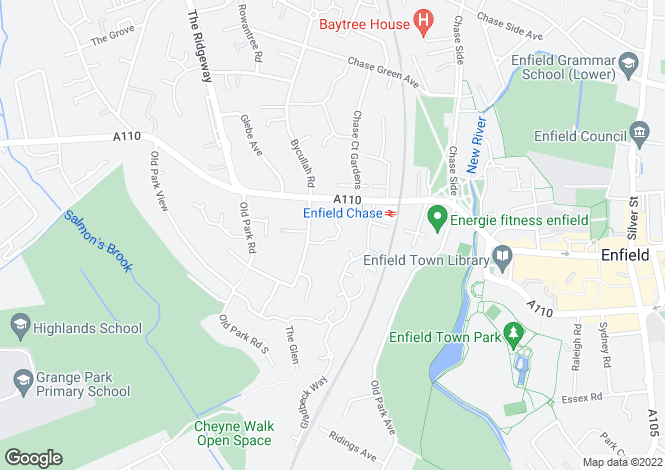 Map for Badgers Close, ENFIELD