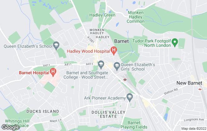 Map for Winkworth, Barnet