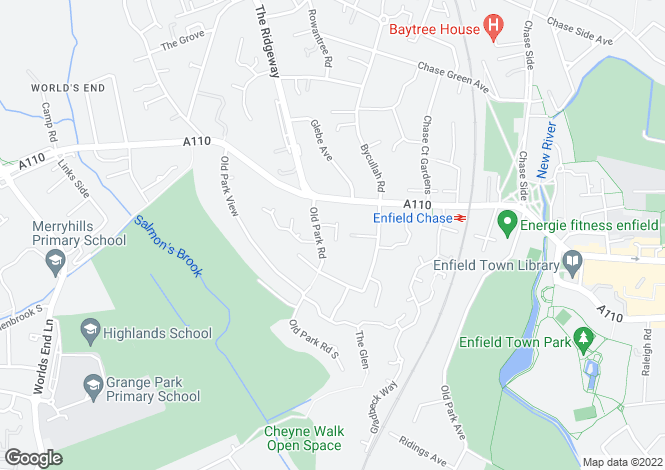 Map for Calshot Way, Enfield EN2