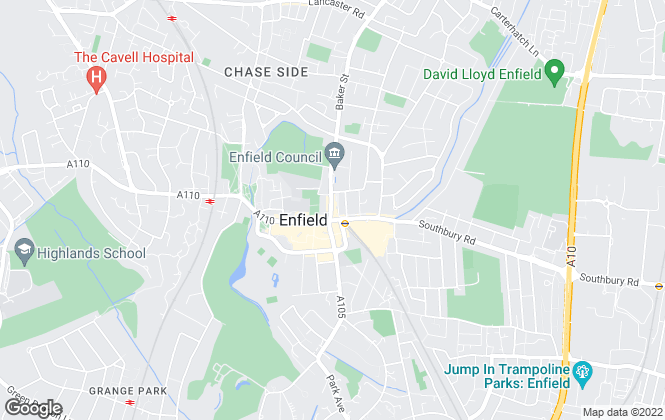 Map for Belvoir, Enfield