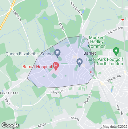 Map of property in High Barnet