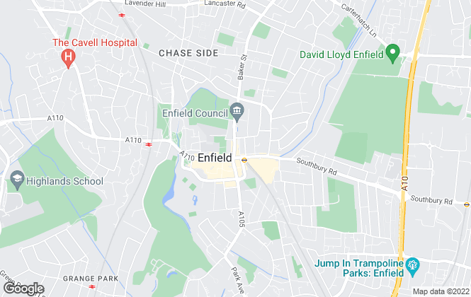 Map for Kings Group, Enfield Town - Lettings