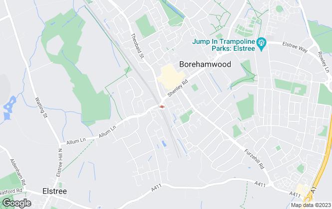 Map for Eden Estates, Borehamwood