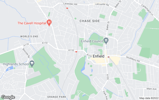 Map for Barnfields Estate Agents, Enfield