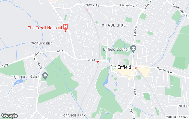 Map for Chamberlains, Enfield