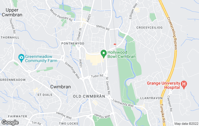 Map for Roberts Estate Agents, Cwmbran