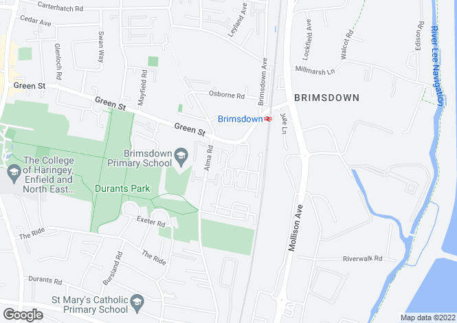 Map for Brimsdown, Enfield, Middlesex EN3 7RJ