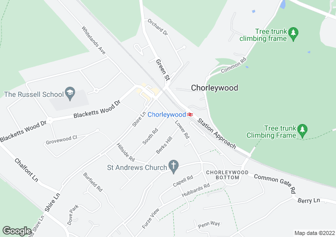 Map for Chorleywood