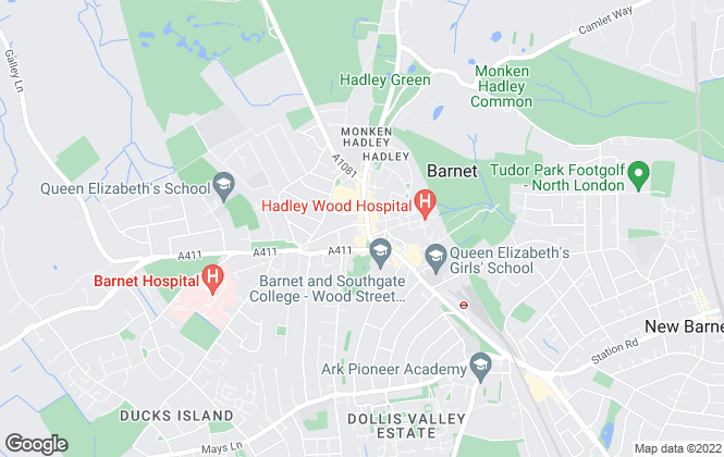 Map for Andrews Letting and Management, Barnet