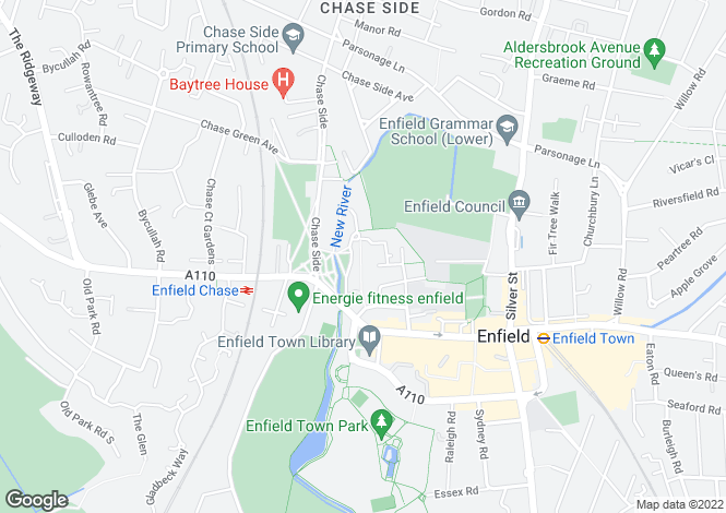 Map for Gentlemans Row, Enfield