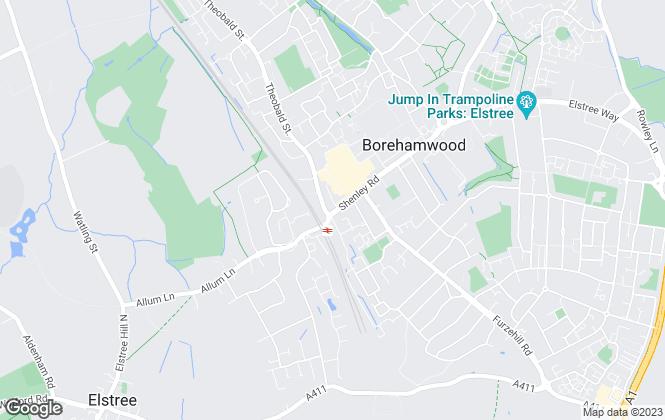 Map for Simmons Estates, Borehamwood