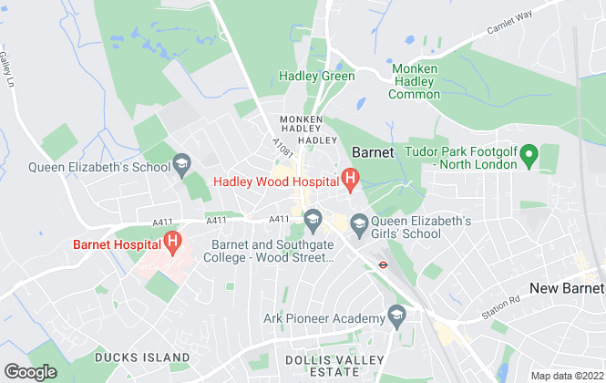 Map for Foxtons, Barnet