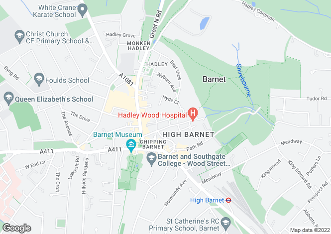 Map for Ashdon House,