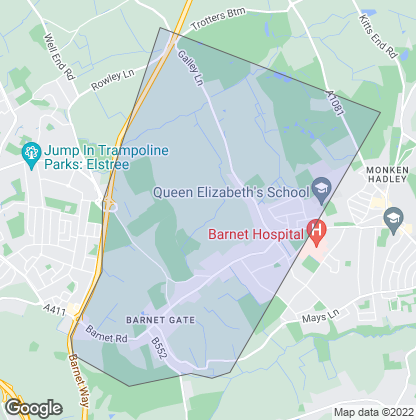 Map of property in Arkley