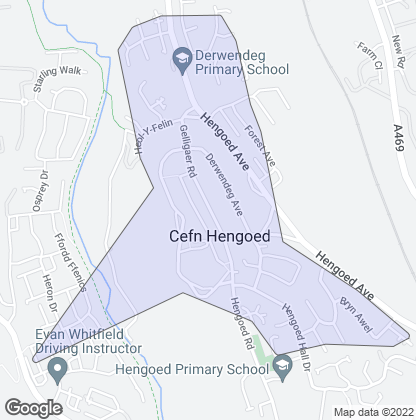 Map of property in Cefn Hengoed