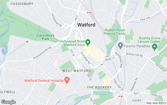 Map for Warren Anthony Estate Agents, Watford