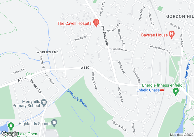 Map for Anabelle Court, Slades Hill, Enfield