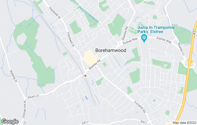 Map for Barkers, Borehamwood
