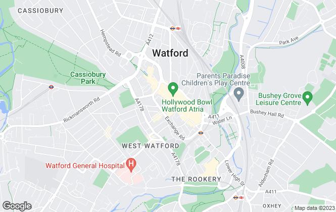 Map for Oakleaf North London , Watford