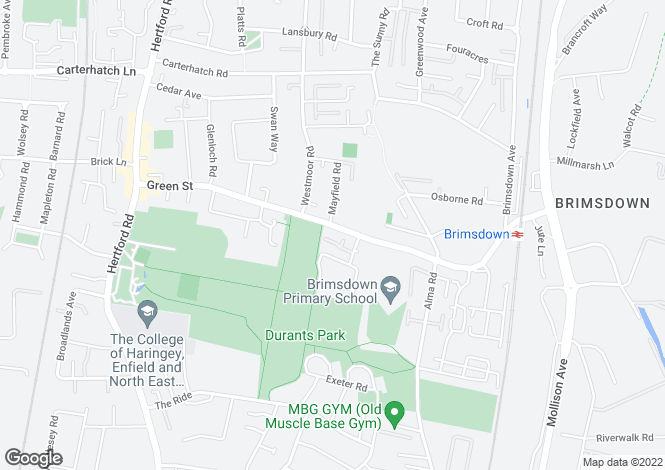 Map for Green Street, Enfield Middlesex EN3