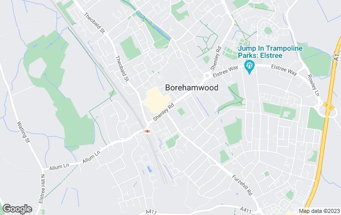Map for Barkers, Borehamwood