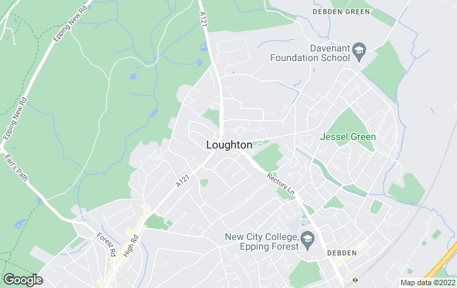 Map for Clarke Hillyer, Loughton