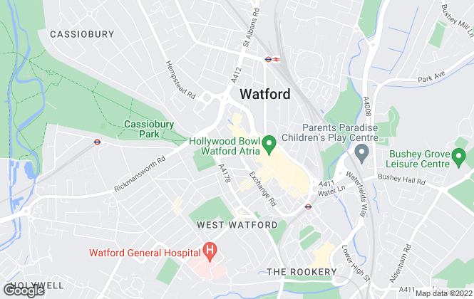 Map for Imagine, Watford