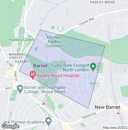 Map of property in Monken Hadley