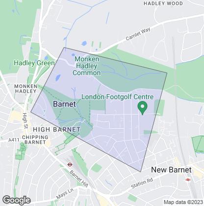 Map of property in Monken Hadley