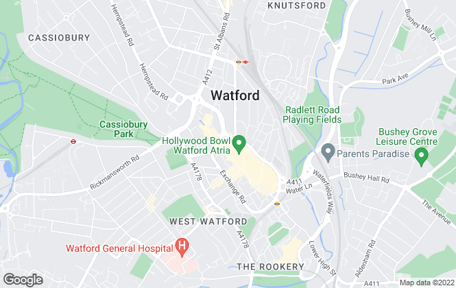 Map for Rennie & Co, Watford