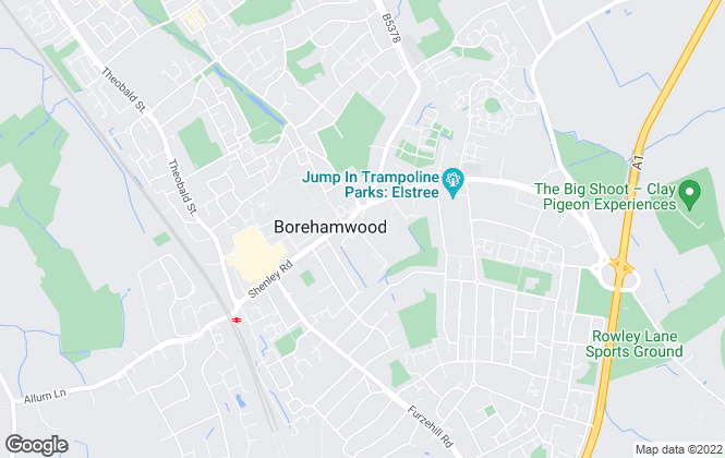 Map for BHE, Borehamwood