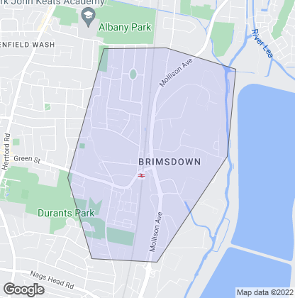 Map of property in Brimsdown