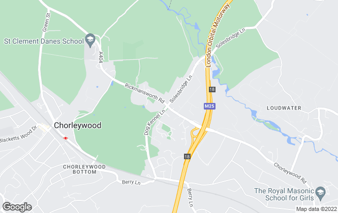 Map for Binks Estate Agents, Chorleywood