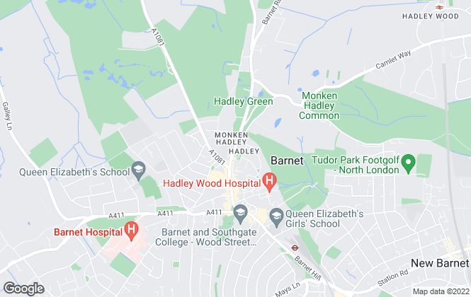 Map for Sean Heaney Estate Agents, Barnet