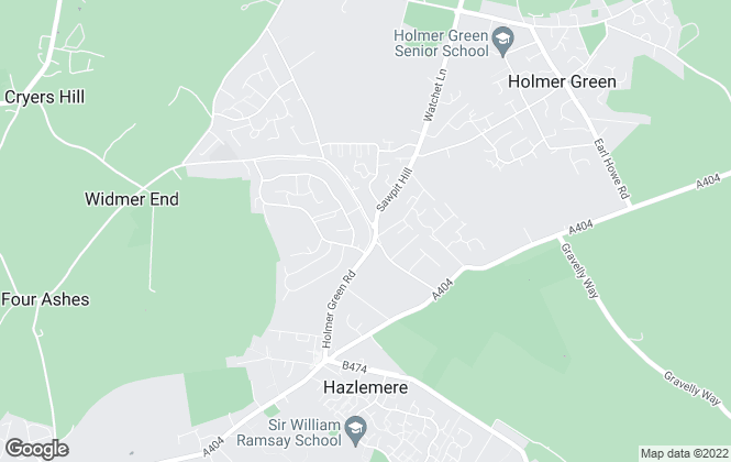 Map for Hurst Estate Agents, Hazlemere