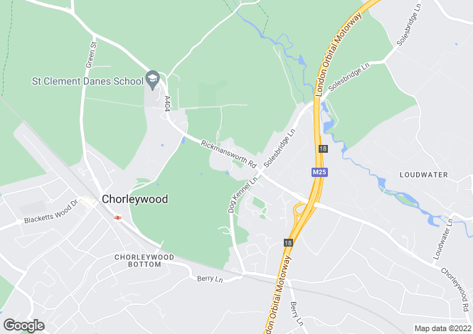 Map for Rickmansworth Road, Chorleywood, Rickmansworth, Hertfordshire, WD3 5SG