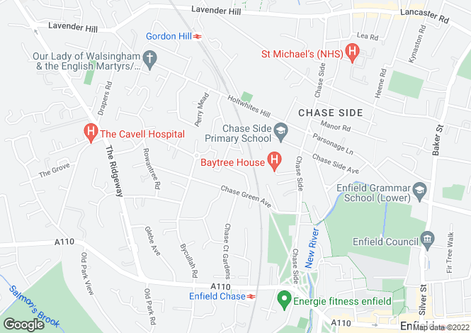 Map for Monks Close, Enfield