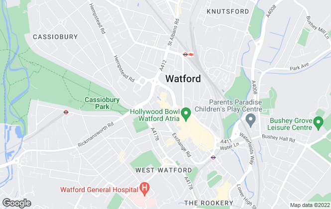Map for Your Move , Watford