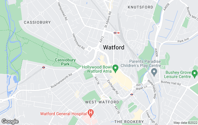 Map for Brown & Merry, Watford