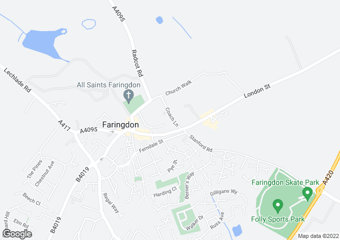 Map for Coach Lane, Faringdon